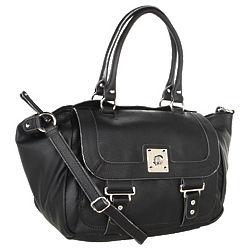 Nine West Buttoned Up Large Satchel Handbag