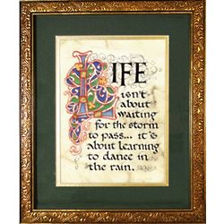 Dance in the Rain Matted and Framed Print