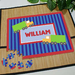Personalized Truck Driver Fan Jigsaw Puzzle