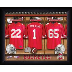 Personalized Ohio State Buckeyes Locker Room Print