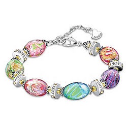 Daughter I Wish For You Personalized Murano Style Bracelet