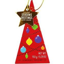 Seasons Greetings Scented Bath Salts in Christmas Tree Box