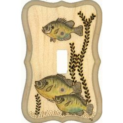 Bluegill Hand Crafted Wooden Switchplate