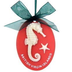 Seahorse Coral Ornament