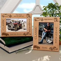 Personalized Classic Cars Wooden Picture Frame