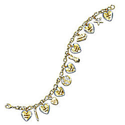 A Teacher's Heart Engraved Charm Bracelet