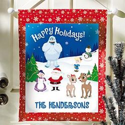 Personalized Rudolph Christmas Hanging Canvas