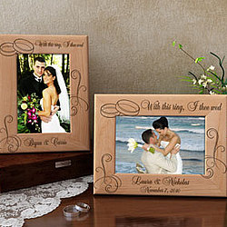Personalized With This Ring Wooden Picture Frame