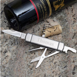 Monogram Stainless Pocket Knife