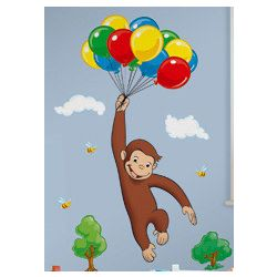 Curious George Peel and Stick Giant Wall Decals
