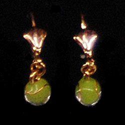 Austrian Crystal Tennis Ball Earrings