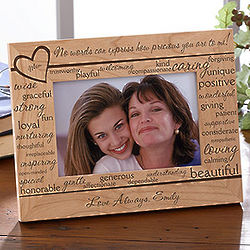 Definition of Mom Personalized Wood Picture Frame