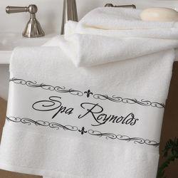 Personalized Fleur de Lis Bath Towel