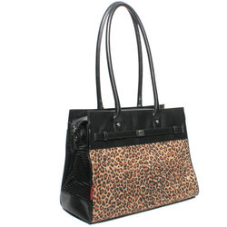 Bark-n-Bag Monaco Pet Tote in Leopard Print