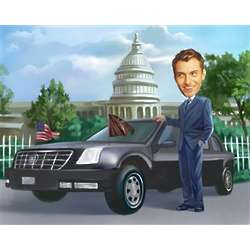 Secret Service Caricature from Photos