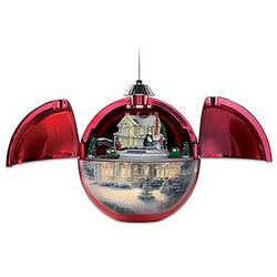 Thomas Kinkade Christmas Hideaway Musical Motion Ornament