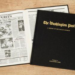Washington Post Cowboys Fan Personalized Team Book