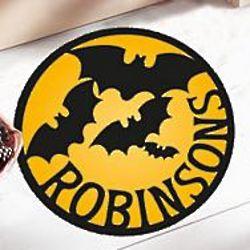 Personalized Bats Round Halloween Doormat