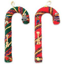 Candy Cane Guitar Ornaments
