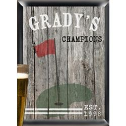 Personalized Traditional Golf Man Cave Pub Sign