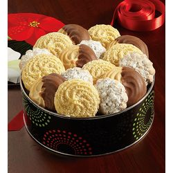 Winter Floral Cookie Tin