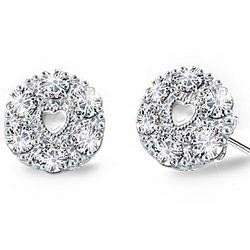 Precious Daughter Sterling Silver Diamond Earrings
