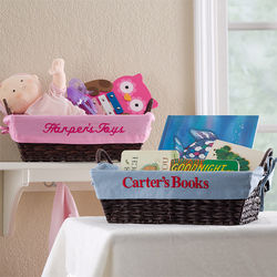 Kid's Personalized Storage Basket