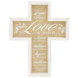 Love Is Patient Wall Cross