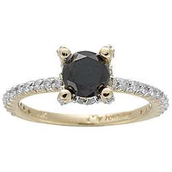 1/2 Ct Diamond & Black Diamond Ring in 14K Gold