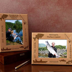 Personalized Fishing Wooden Picture Frame