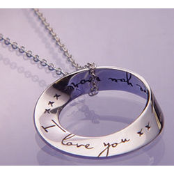 I Love You More Mobius Necklace in Sterling Silver