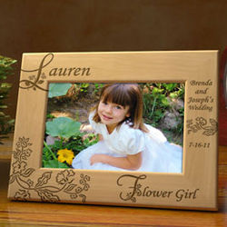 Personalized Our Flower Girl Wooden Picture Frame