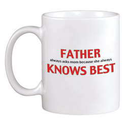 Personalized Father Knows Best 11 oz. Mug