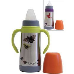 Stainless Steel Bees Baby Bottle and Sippy Cup