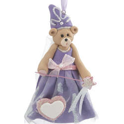 Princess Bear Clay Figurine