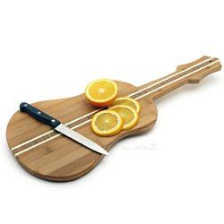 Guitar Shaped Bamboo Cutting Board