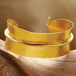 Gold Plated Fulani Tribal Cuff Bracelet