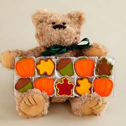 Autumn Bear with Hand-Decorated Cookies