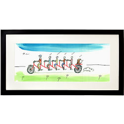 Male Personalized Family Tandem Bike Art