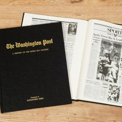 Washington Post Packers Fan Personalized Team Book