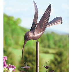 Handmade Metal Hummingbird Garden Wind Spinner
