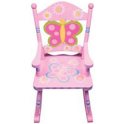 Butterfly Wooden Rocking Chair