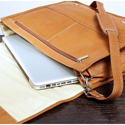 Personalized Leather Laptop Bag