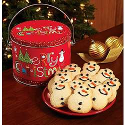 Merry Christmas Butter Cookie Pail
