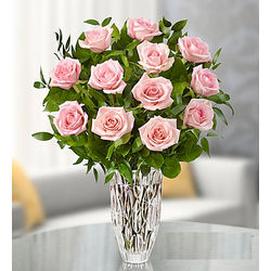 Marquis by Waterord Vase with Premium Pink Roses