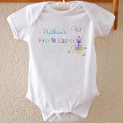 Personalized First Easter Infant Baby Bodysuit