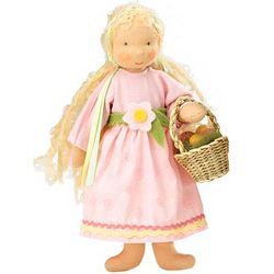 Handcrafted Doll with Easter Basket