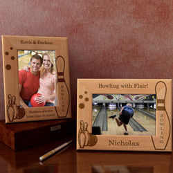 Personalized Bowling Wooden Picture Frame
