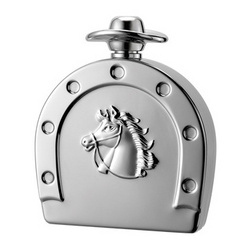 Personalized 6 Oz Mirror Finish Horse Shoe Flask