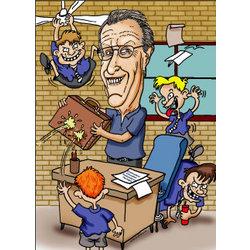 Retirement Caricature Digital Art